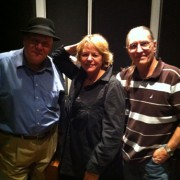 In the studio with Warren Vache, Dave Darlington, engineer